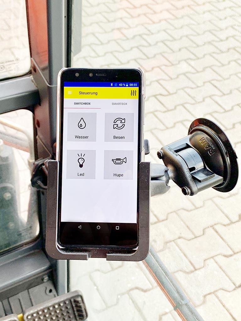 Thumbnail of Starbildschirm der Smartphonesteuerung.