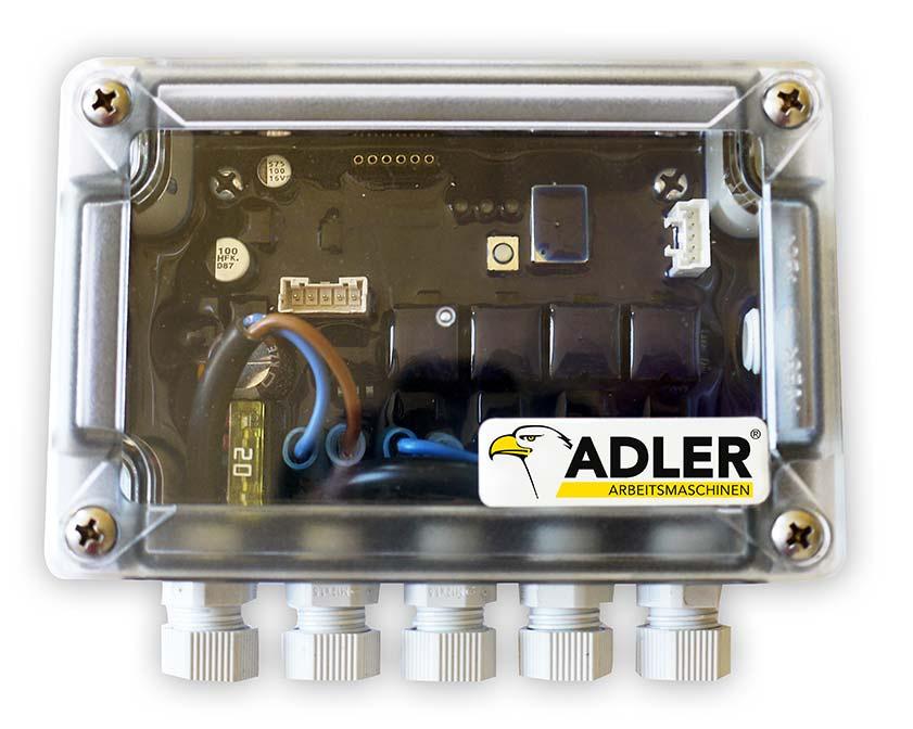 Fernsteuerung per ADLER SmartBox.